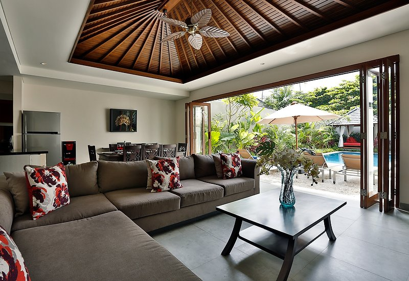 Bali Villa Living Dining and Pool