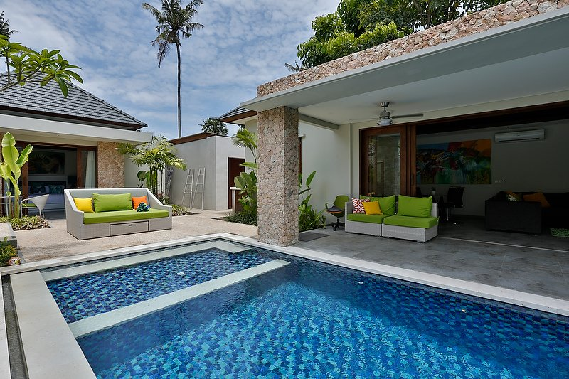 Bali Villa Pool and Living area