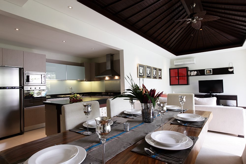 Property Private Villa Bali Sanur Kitchen Dinning