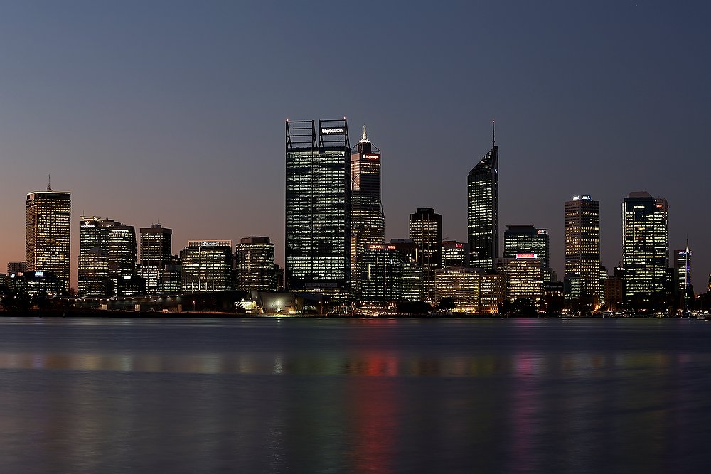Perth City Skyline Evening
