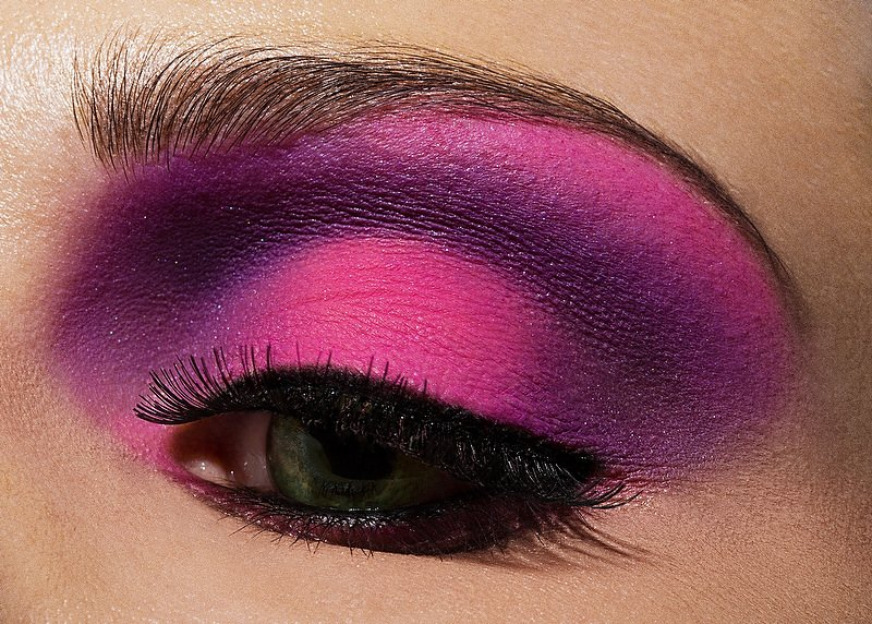 Purple Eye Makeup Eye Lashes