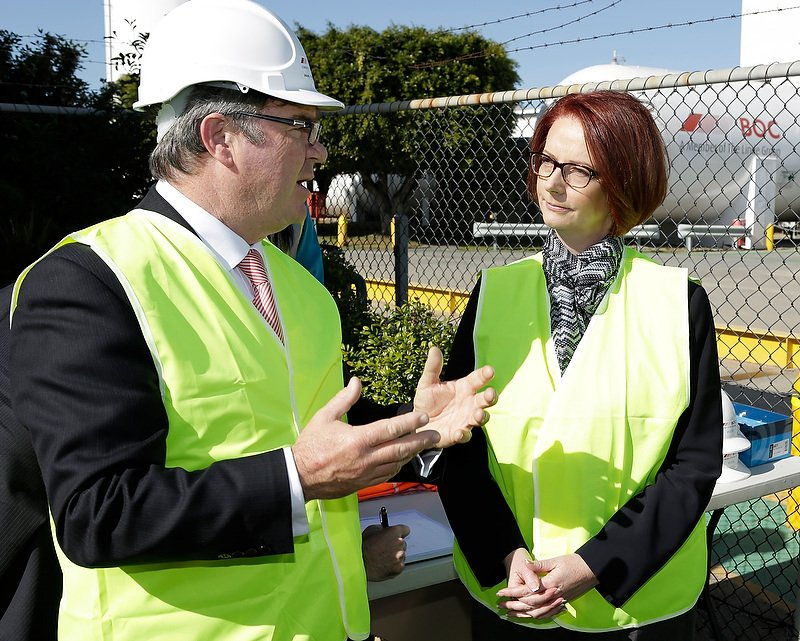Julia Gillard at BOC Gas Australia