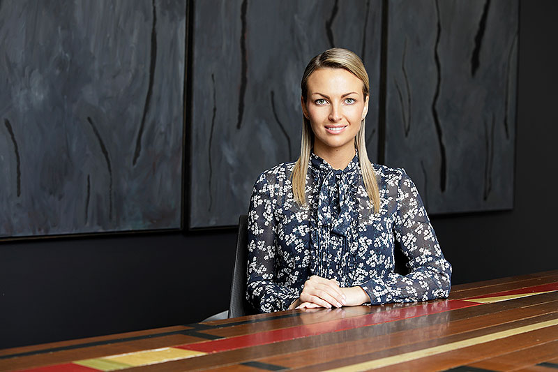 Corporate Portrait Female Desk Headshot Perth Photographer