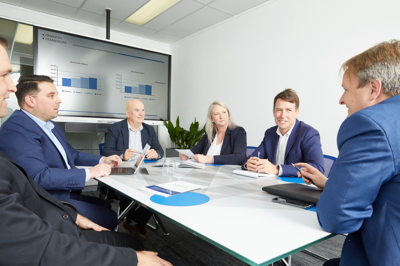 Corporate Group Annual Report Table Shot